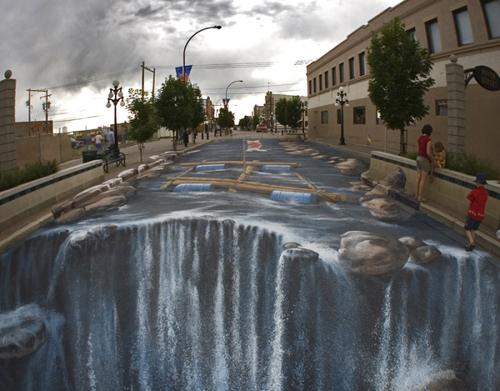 3D malby na silnice a chodníky