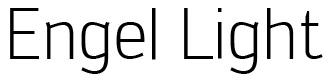 Font Engel Light