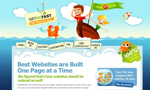 Letní a teplé webdesigny