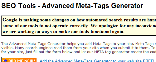 Generátor meta tagů