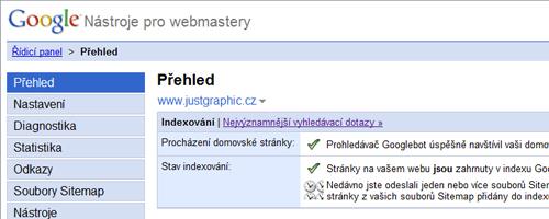 Google nástroje pro správce webů