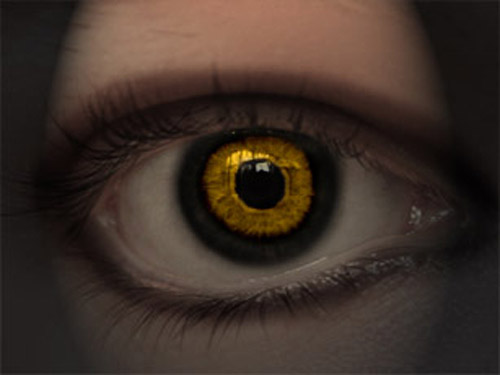 Photoshop tutorial devil's eye