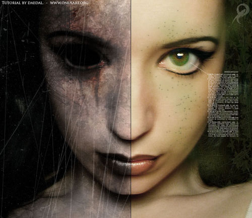 Photoshop dark art tutorial evil