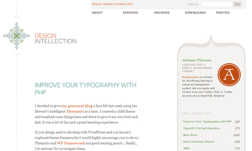Webová inspirace jednoduchého webu